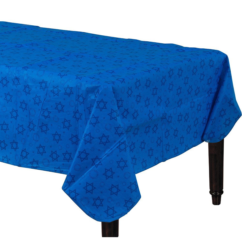 Hanukkah Flannel-Backed Vinyl Table Cover Image #1
