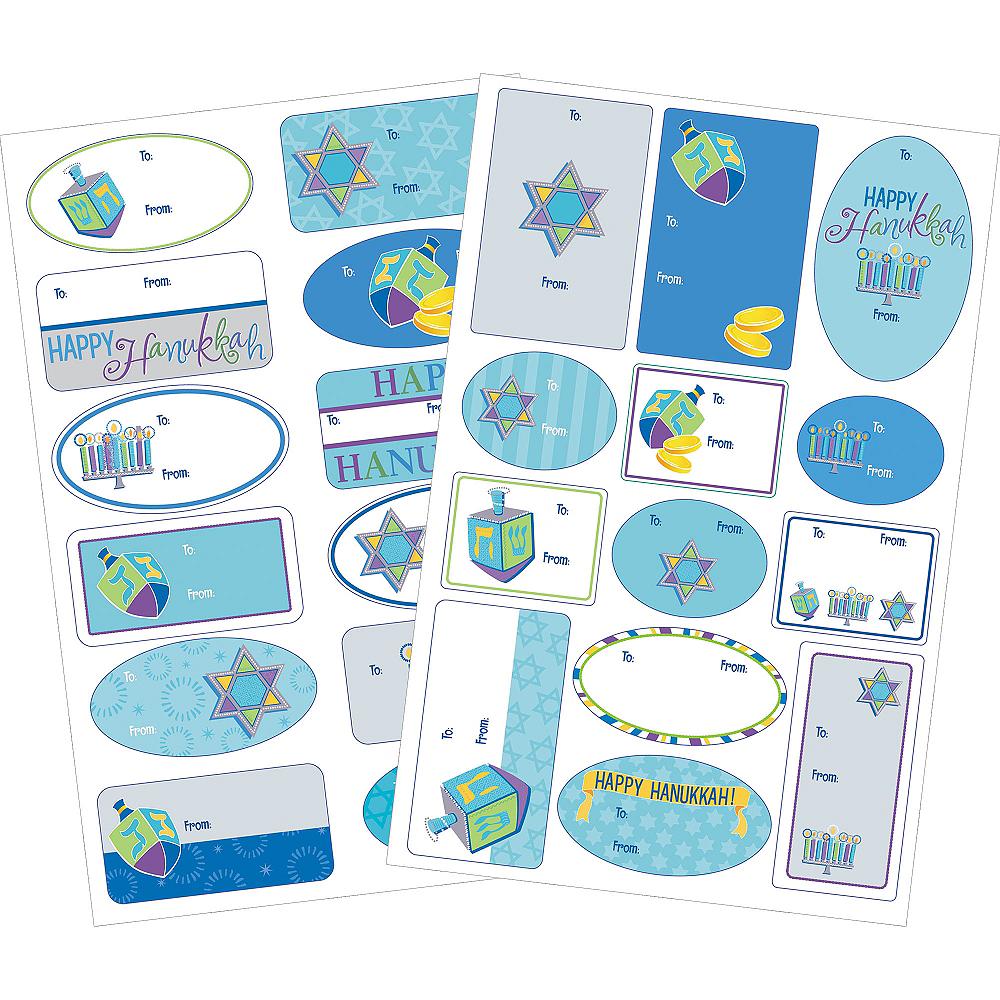 Hanukkah Icons Adhesive Gift Tags 100ct Image #1