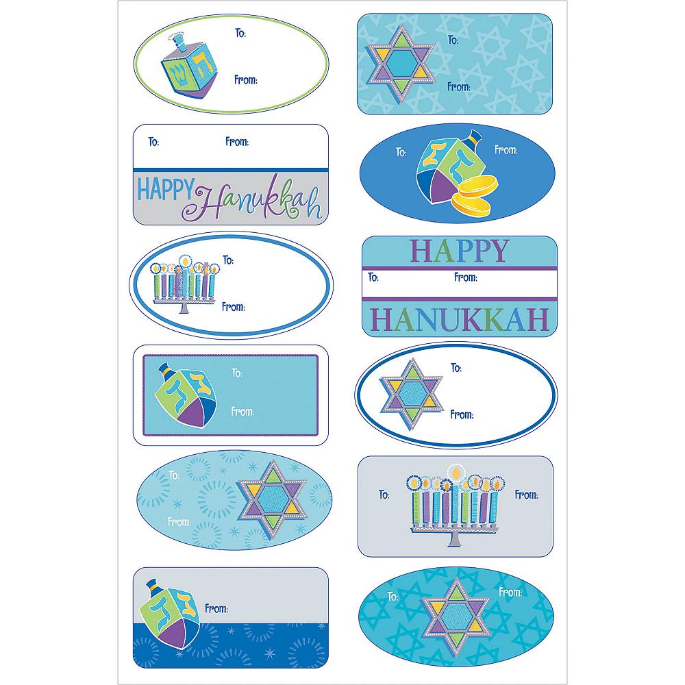 Hanukkah Icons Adhesive Gift Tags 100ct Image #2