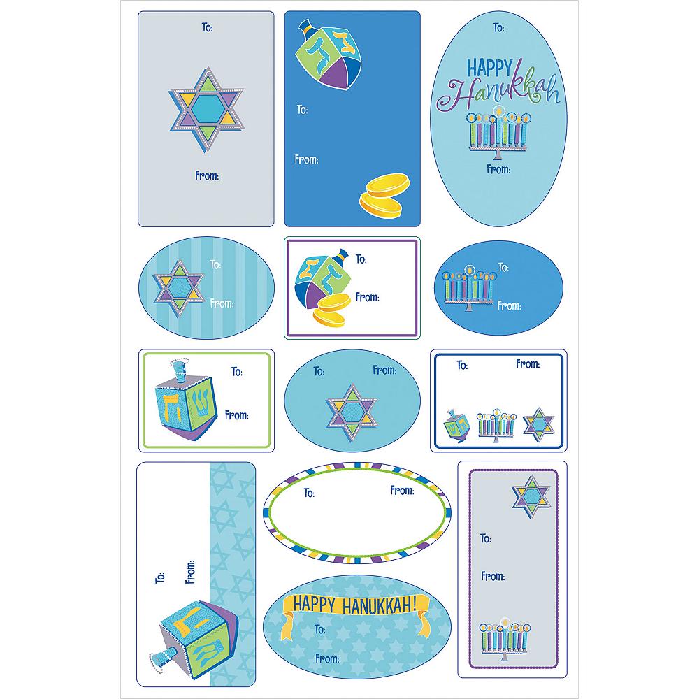 Hanukkah Icons Adhesive Gift Tags 100ct Image #3