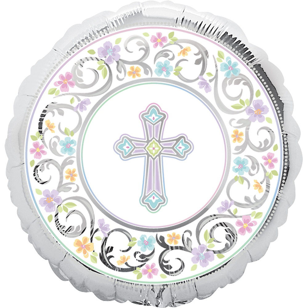 Prismatic Joyous Celebration Christening Balloon, 17in Image #1