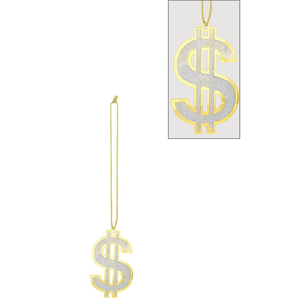 Super Dollar Sign Necklace Image #1