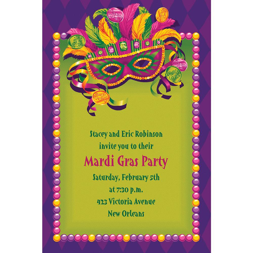Custom Masquerade Mardi Gras Invitations Image #1