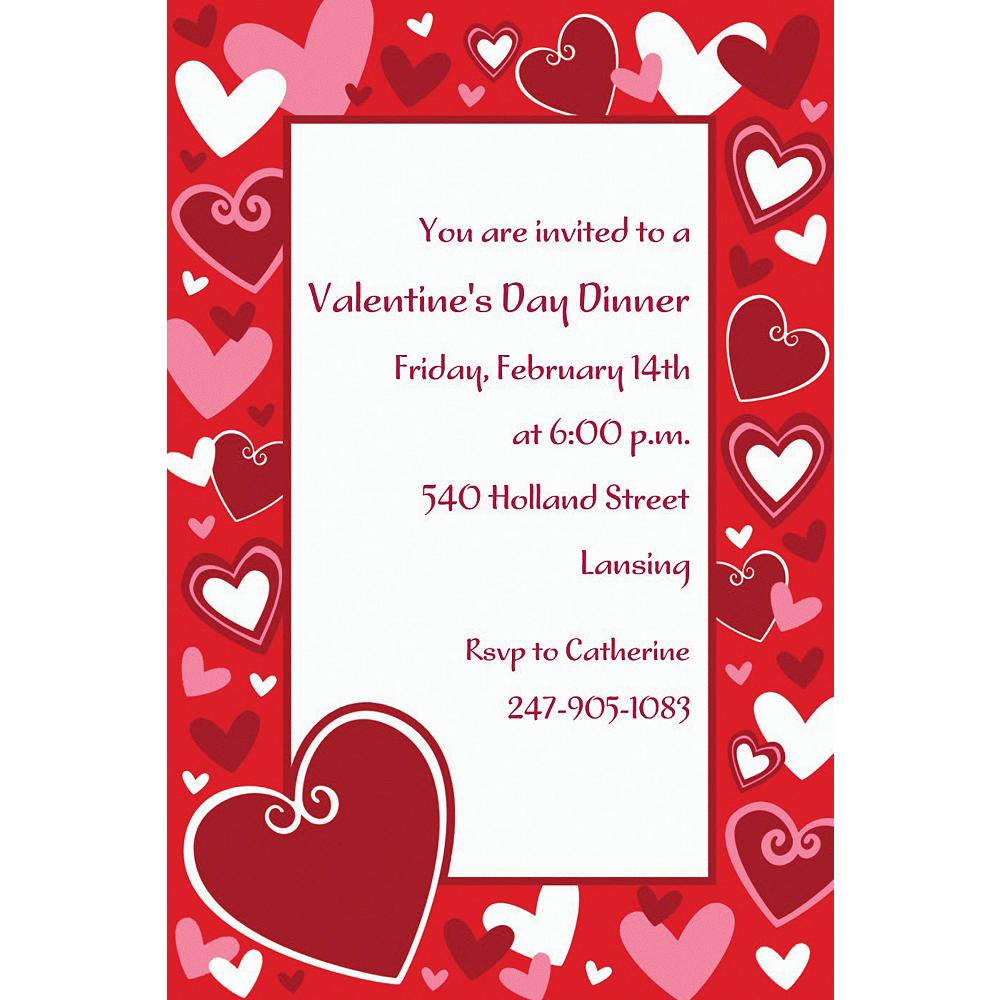 Custom Be Mine Valentine's Day Invitations Image #1