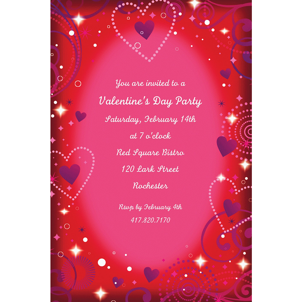 Custom Love Crazy Valentine's Day Invitations  Image #1