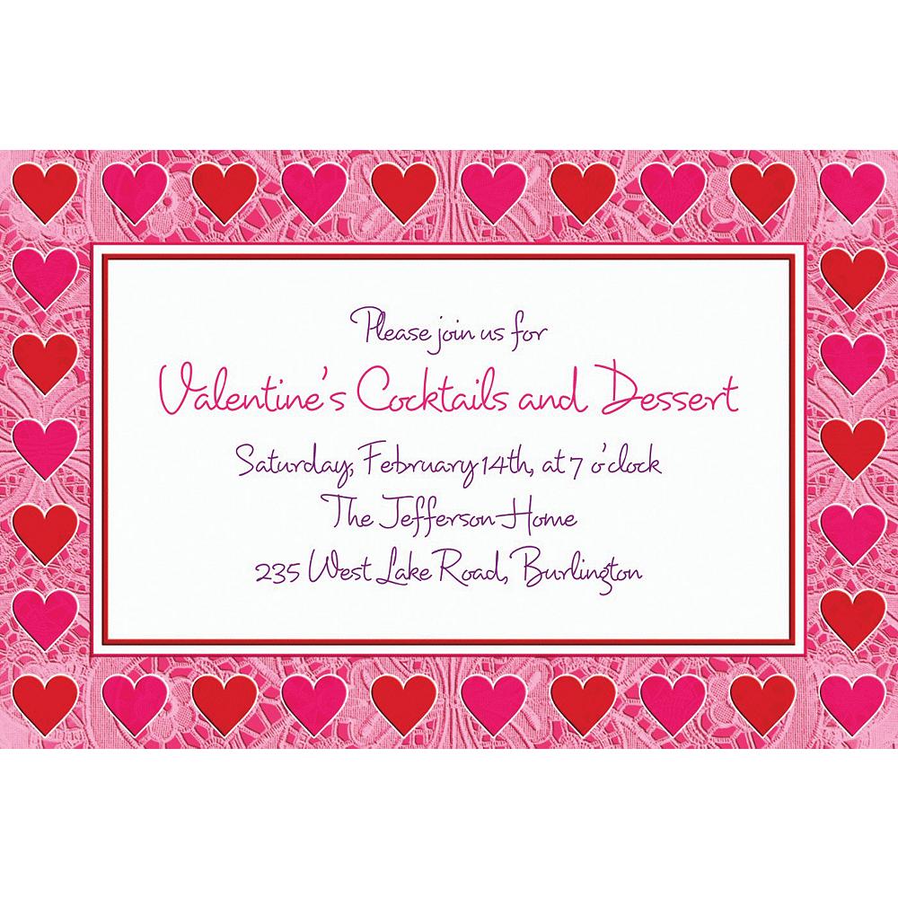 Custom Key To Your Heart Valentine's Day Invitations Image #1