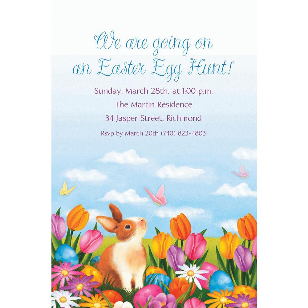 Custom Garden Bunny Invitations Image #1