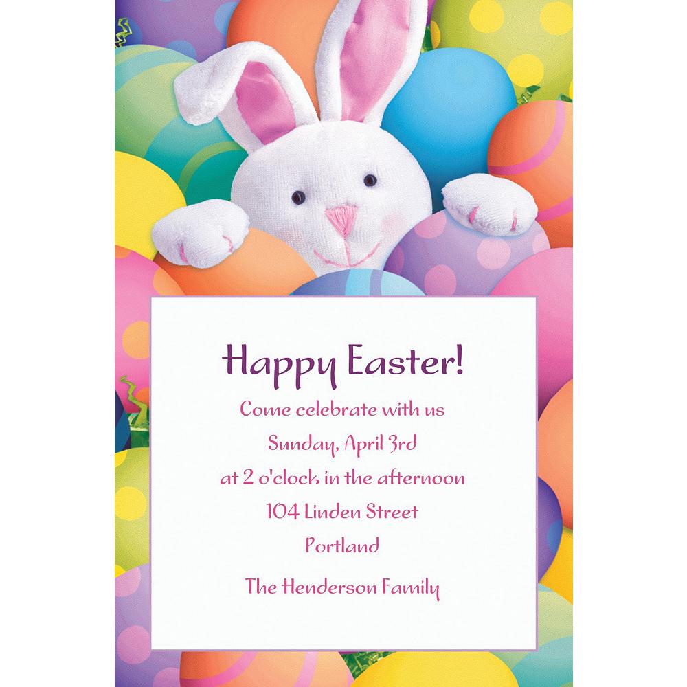 Custom Peekaboo Bunny Invitations Image #1