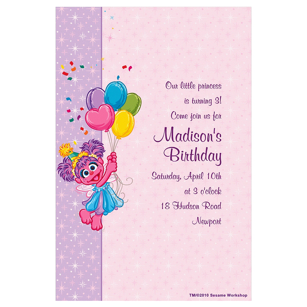 Custom Abby Cadabby Birthday Invitations Party City