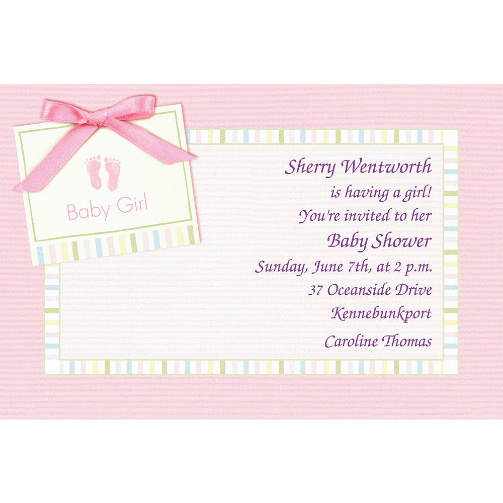Custom Baby Soft Pink Baby Shower Invitations  Image #1