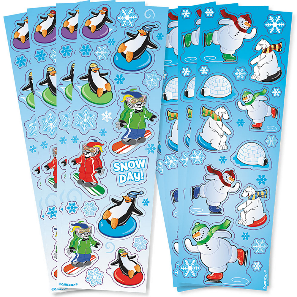 Winter Fun Stickers 8 Sheets Image #1