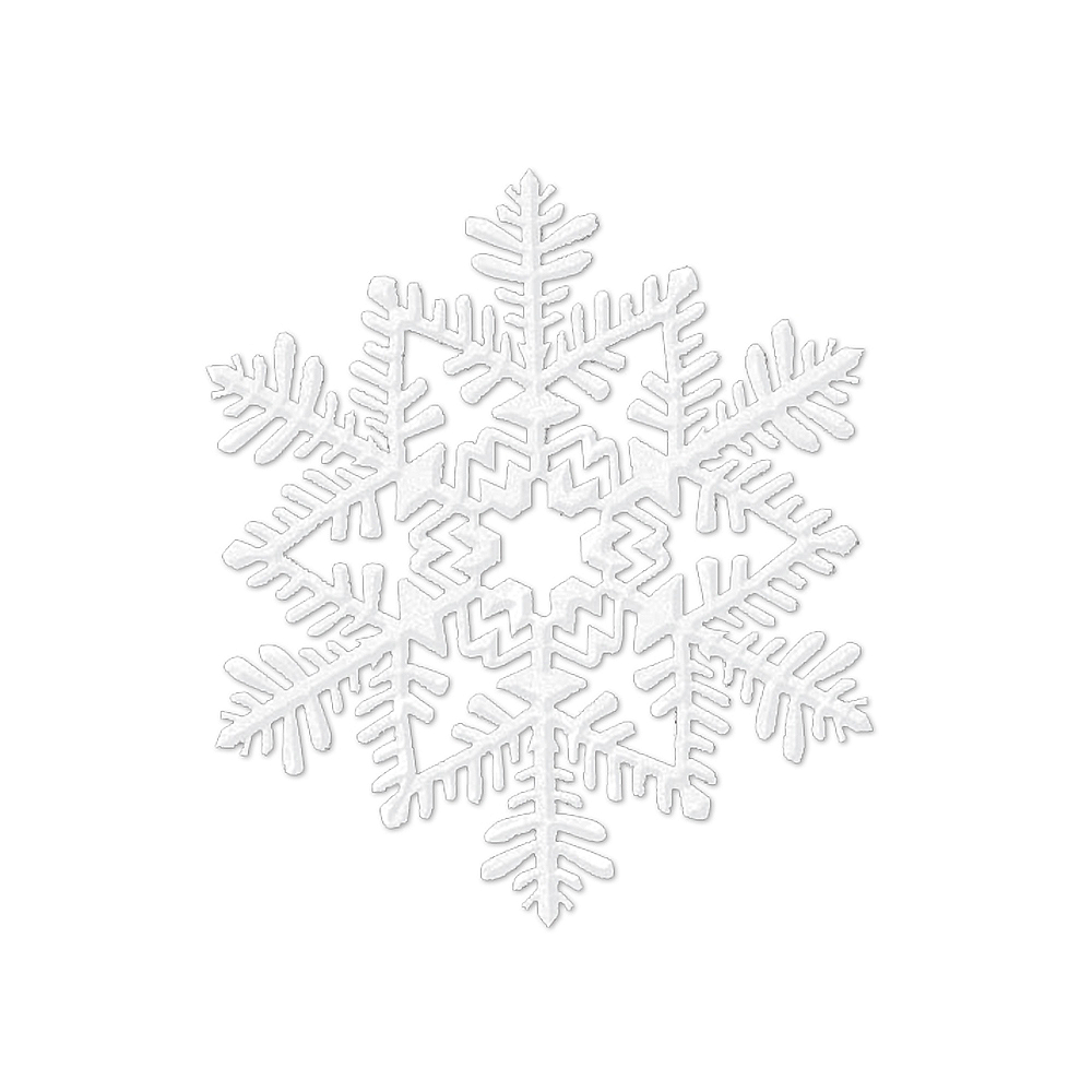 Glitter White Snowflake Image #1