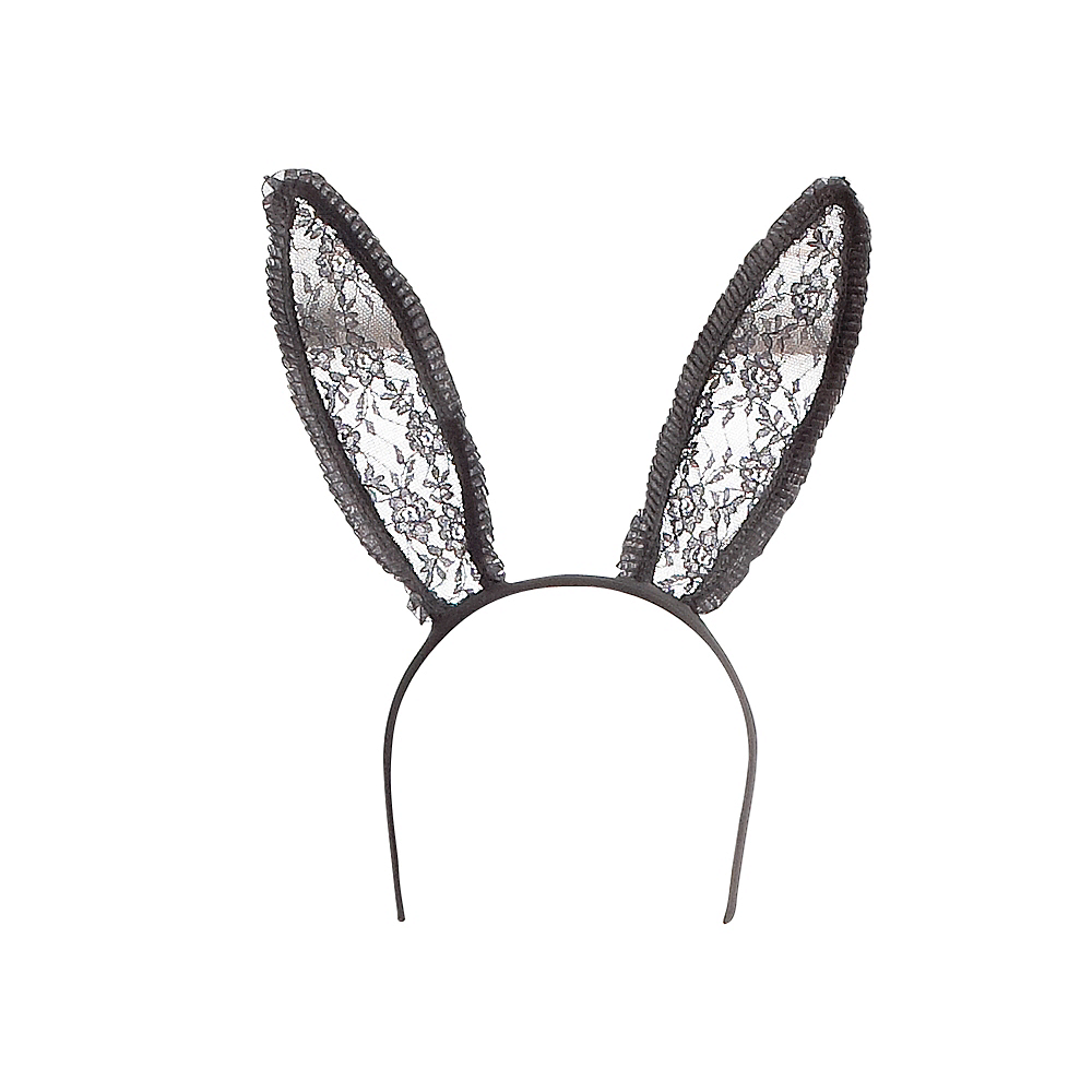 Black Lace Bunny Ears Image #1