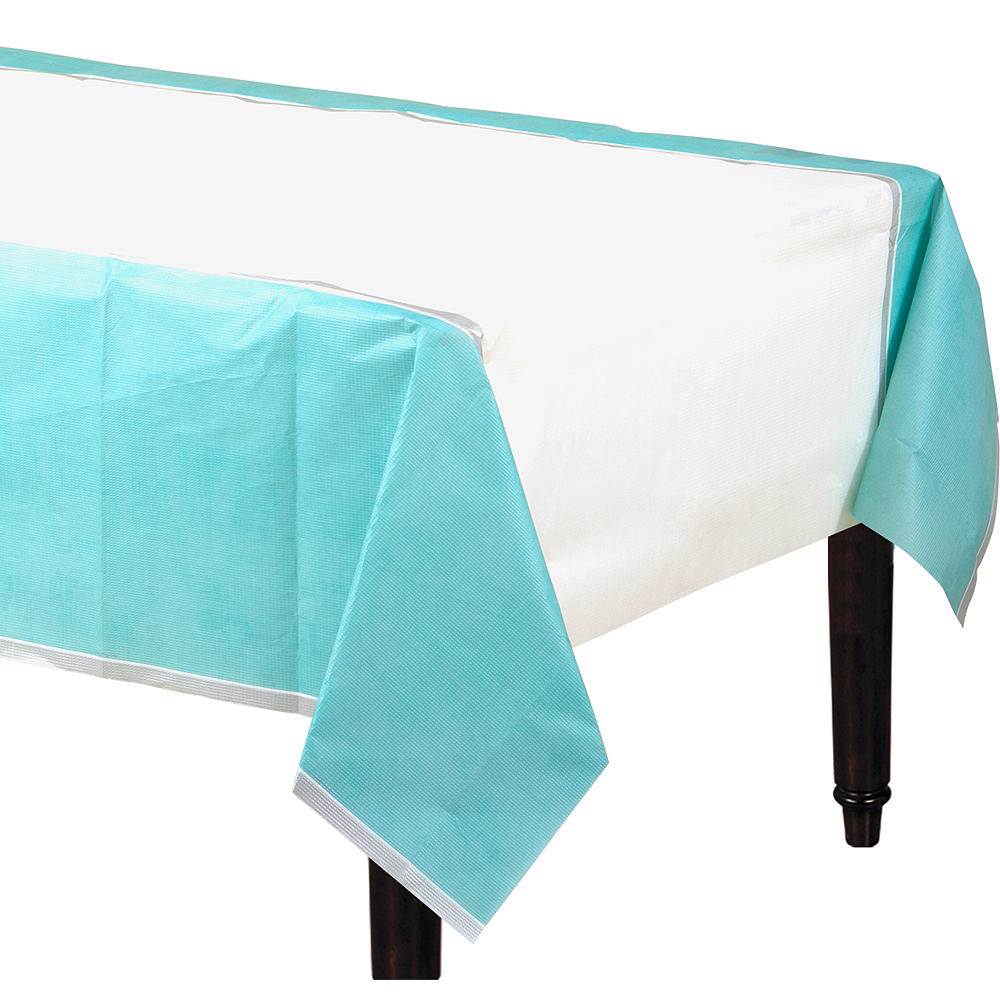 Turquoise Border Table Cover Image #1