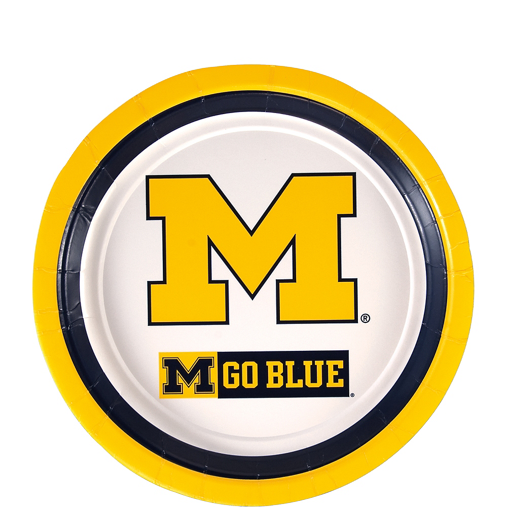 Michigan Wolverines Dessert Plates 12ct Image #1
