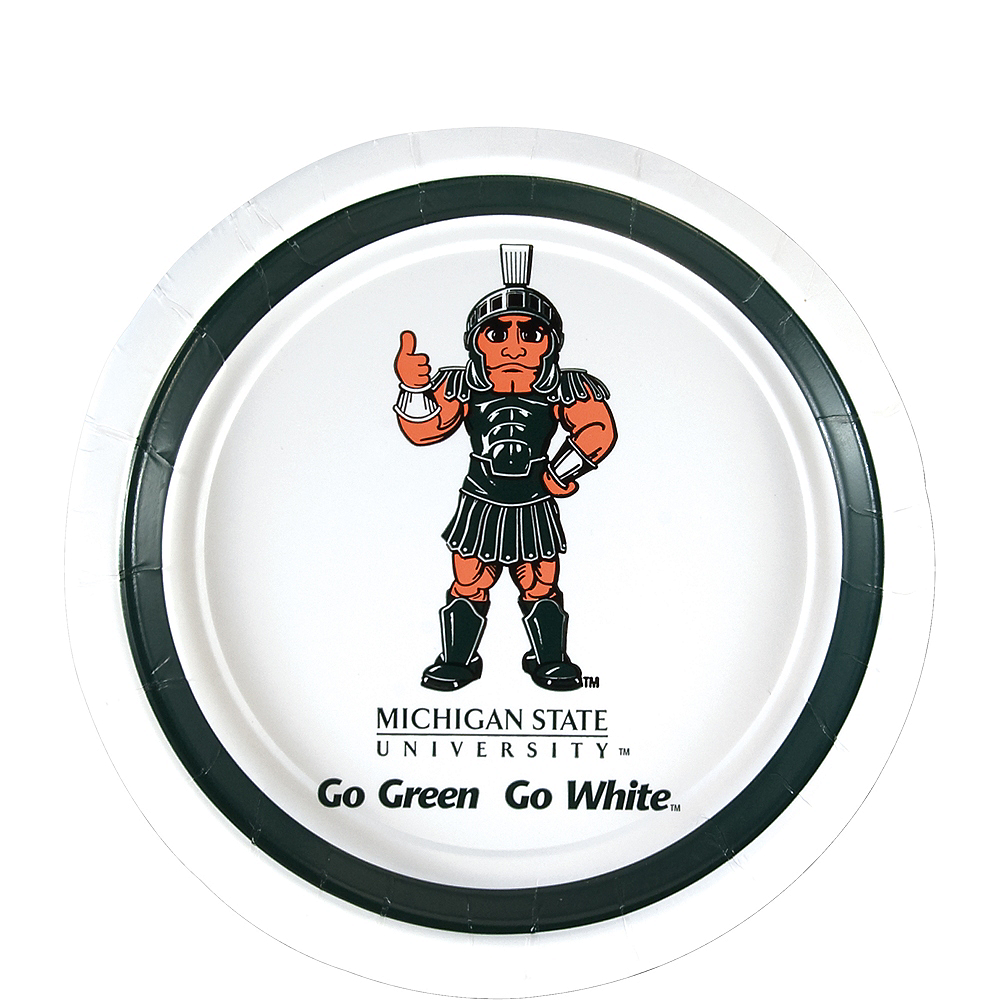Michigan State Spartans Dessert Plates 12ct Image #1