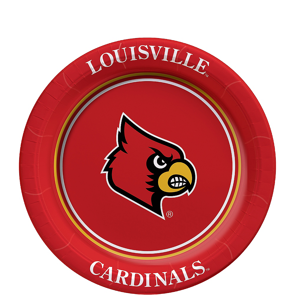 Nav Item for Louisville Cardinals Dessert Plates 8ct Image #1
