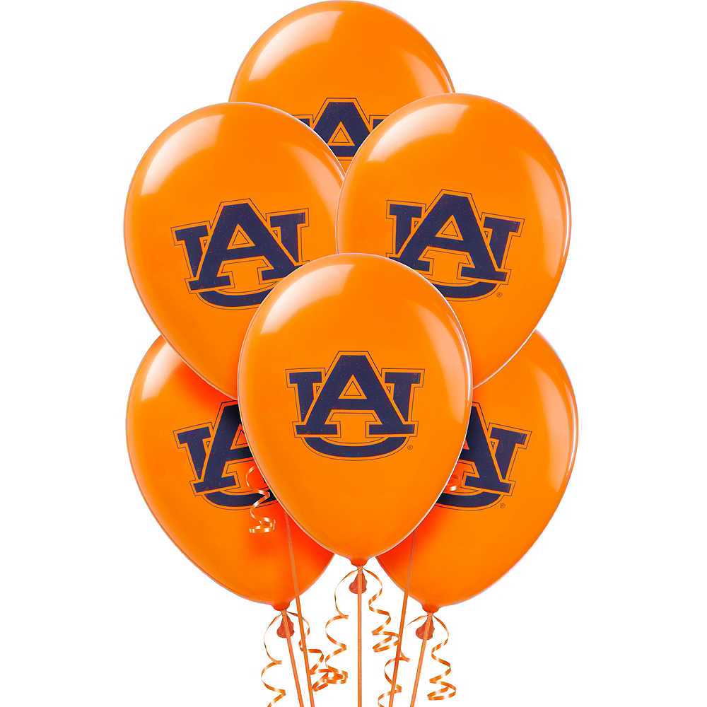 Nav Item for Auburn Tigers Balloons 10ct Image #1
