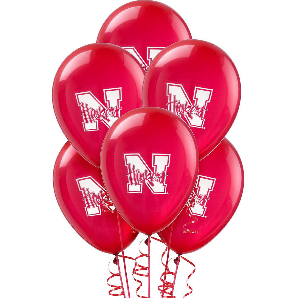 Nebraska Cornhuskers Balloons 10ct Image #1