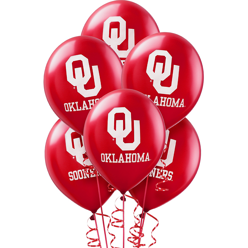 Oklahoma Sooners Balloons 10ct Image #1