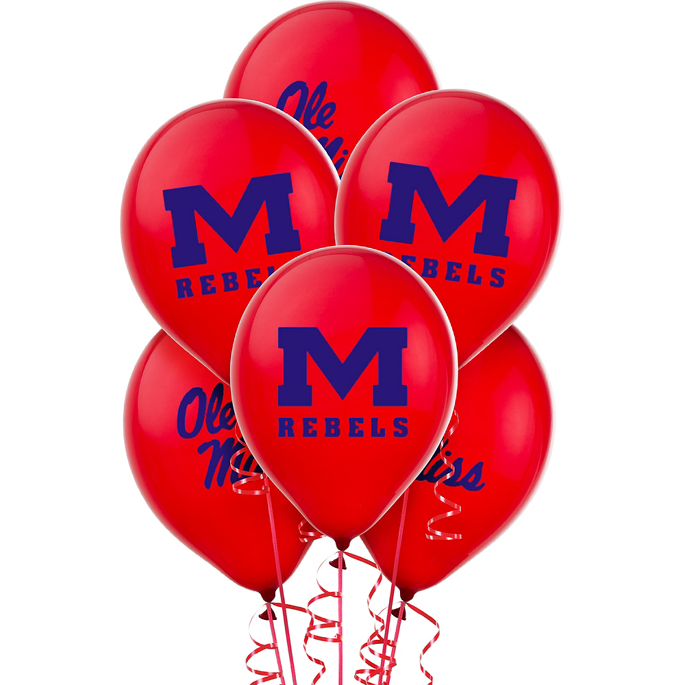 Nav Item for Ole Miss Rebels Balloons 10ct Image #1