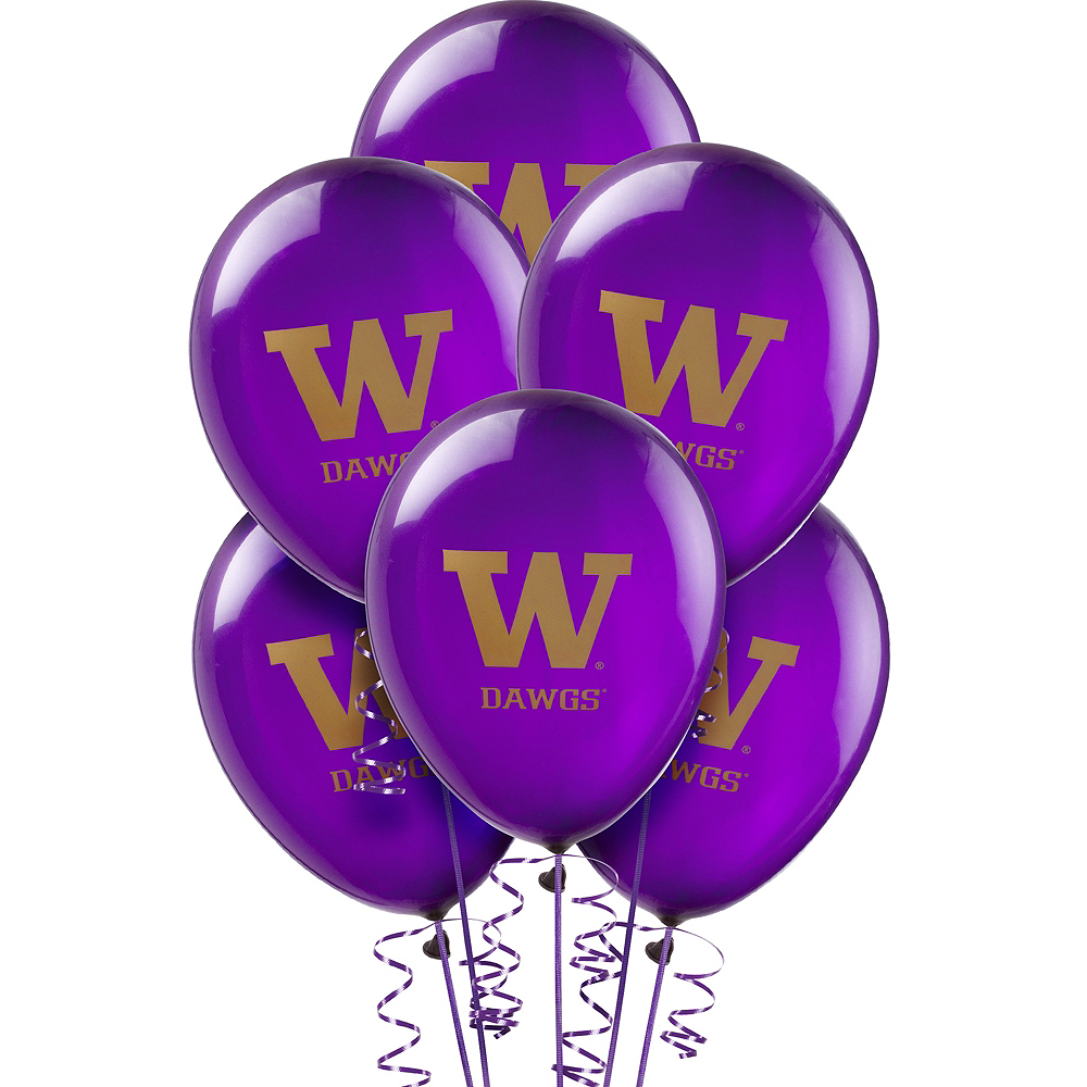 Washington Huskies Balloons 10ct Image #1