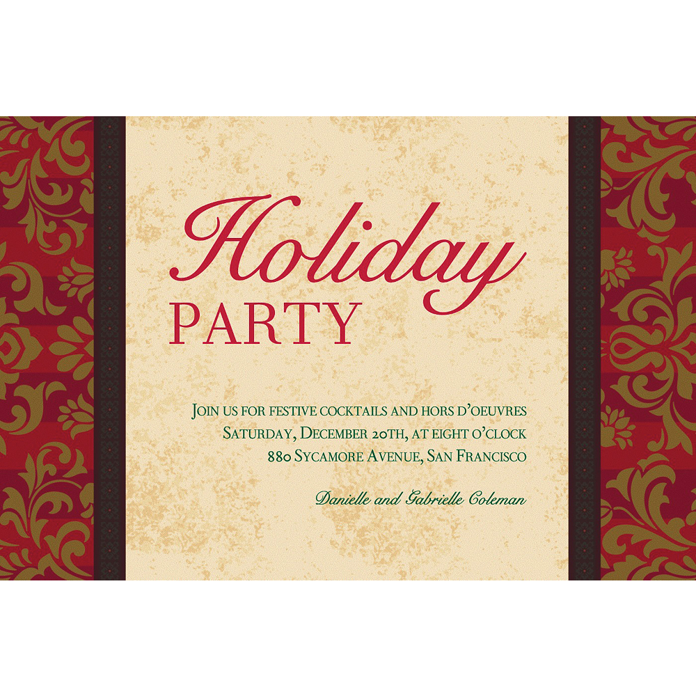 Nav Item for Custom Holiday Style Invitations  Image #1