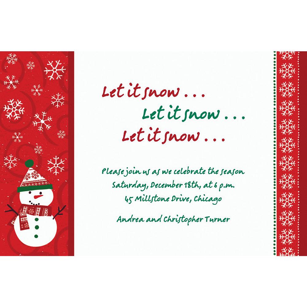 Custom Very Merry Snowman Invitations Image #1