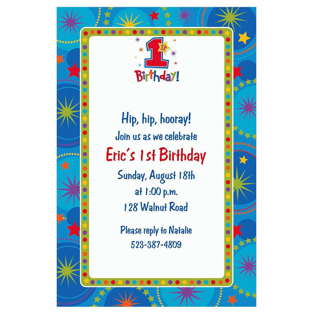 Custom One-Derful Boy 1st Birthday Invitations | Party City