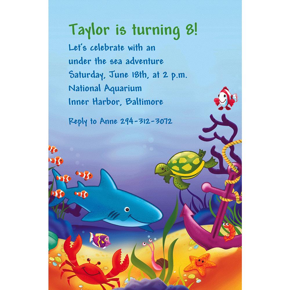 Custom Deep Sea Fun Invitations Image #1