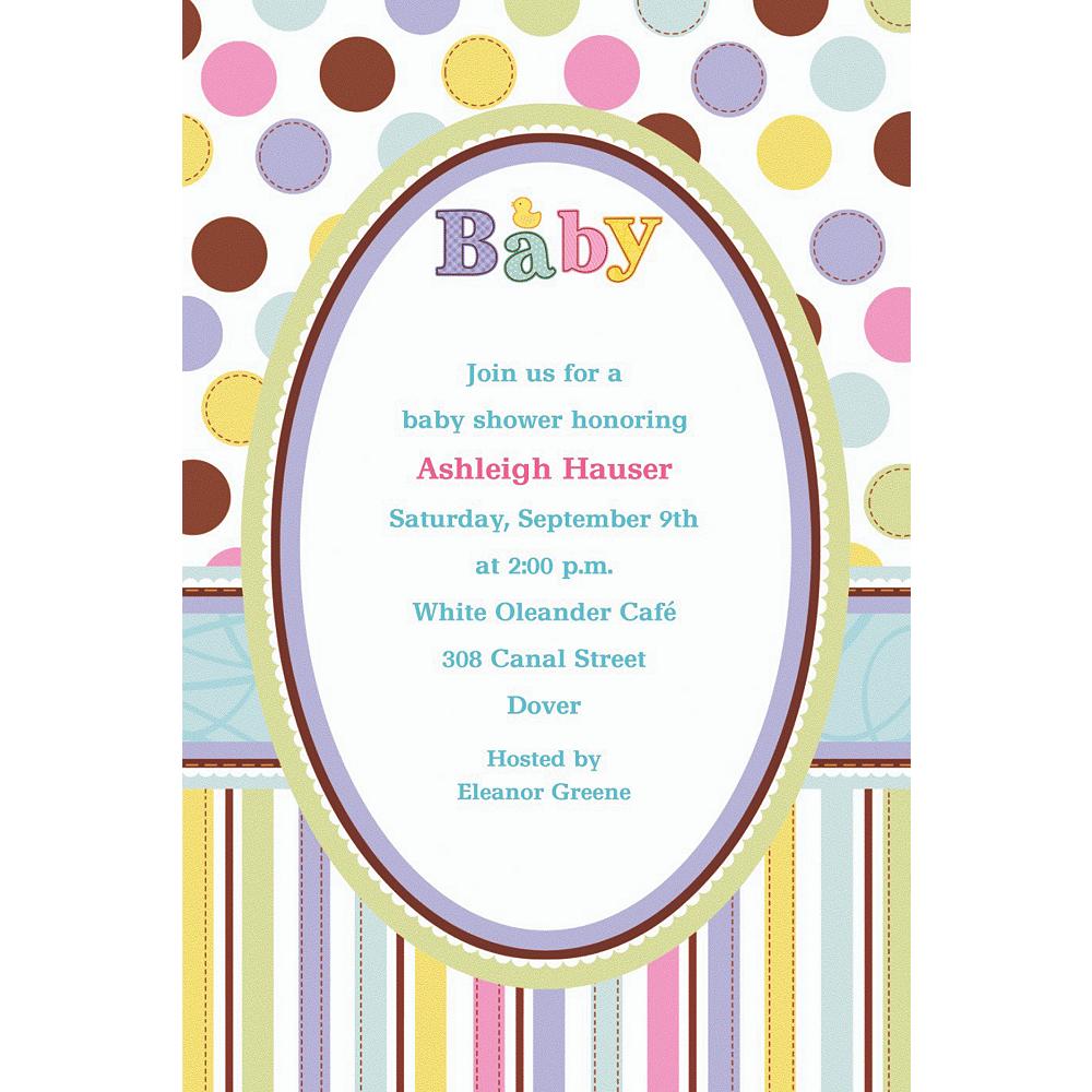 Custom Tiny Bundle Baby Shower Invitations Image #1