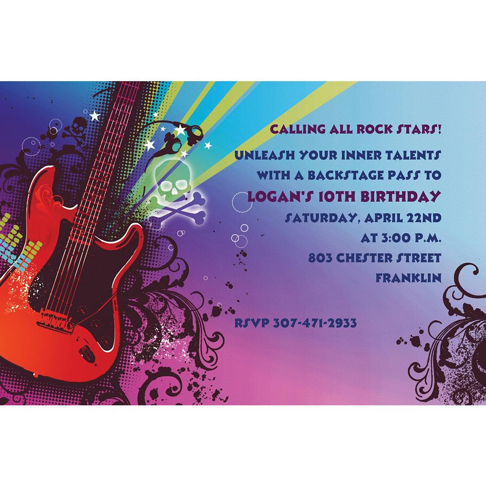 Custom Rock Star Invitations Image #1