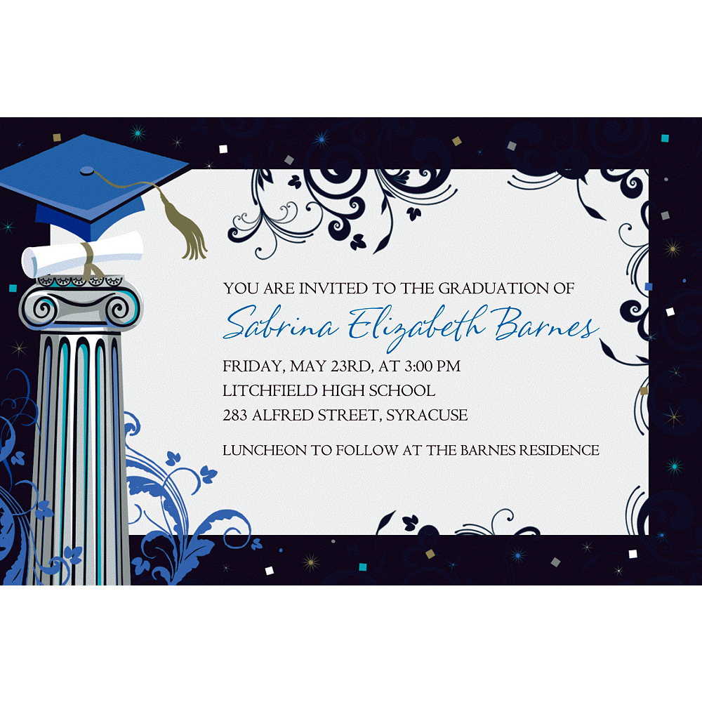 Custom Dean's List Graduation Invitations    Image #1