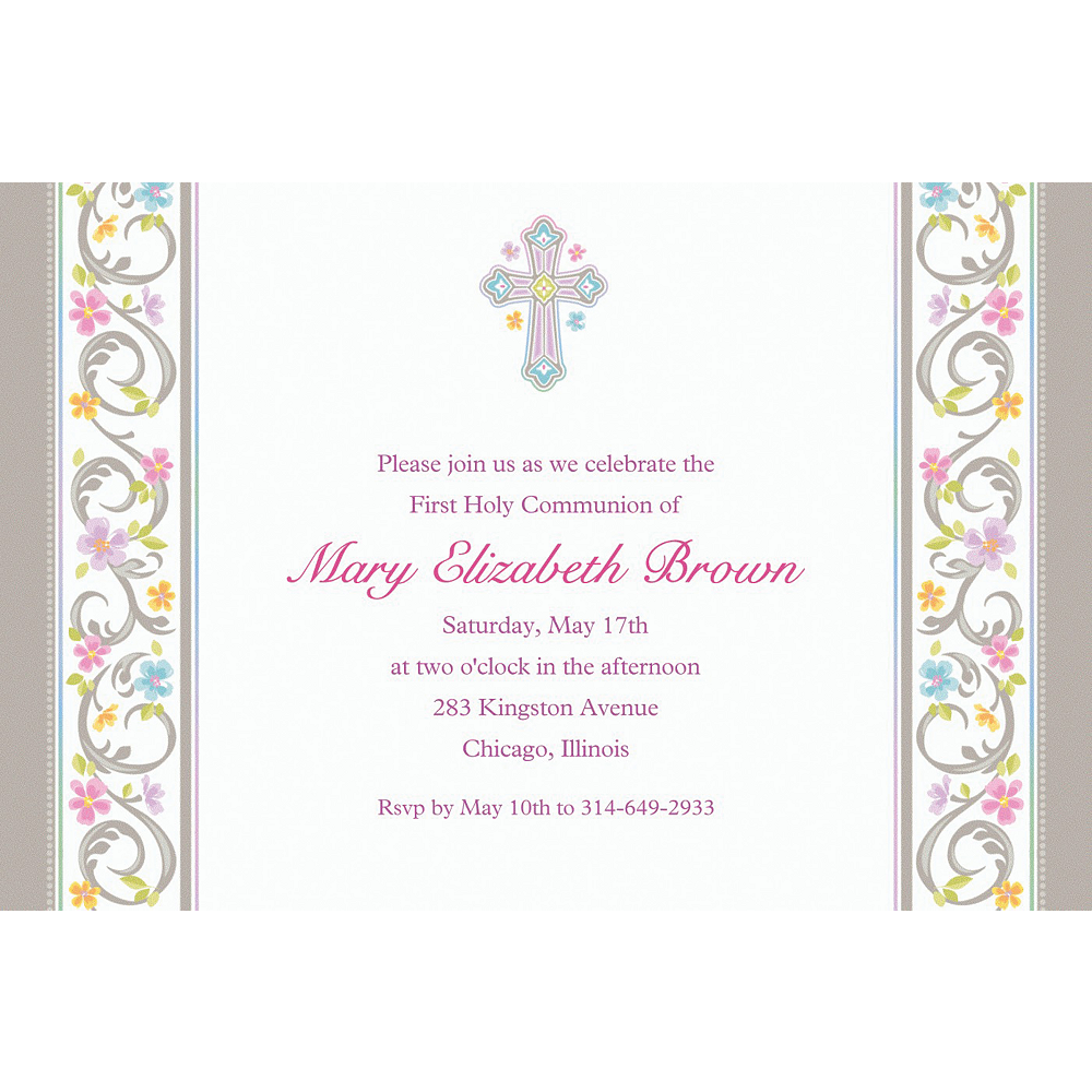 Custom Blessed Day Invitations  Image #1
