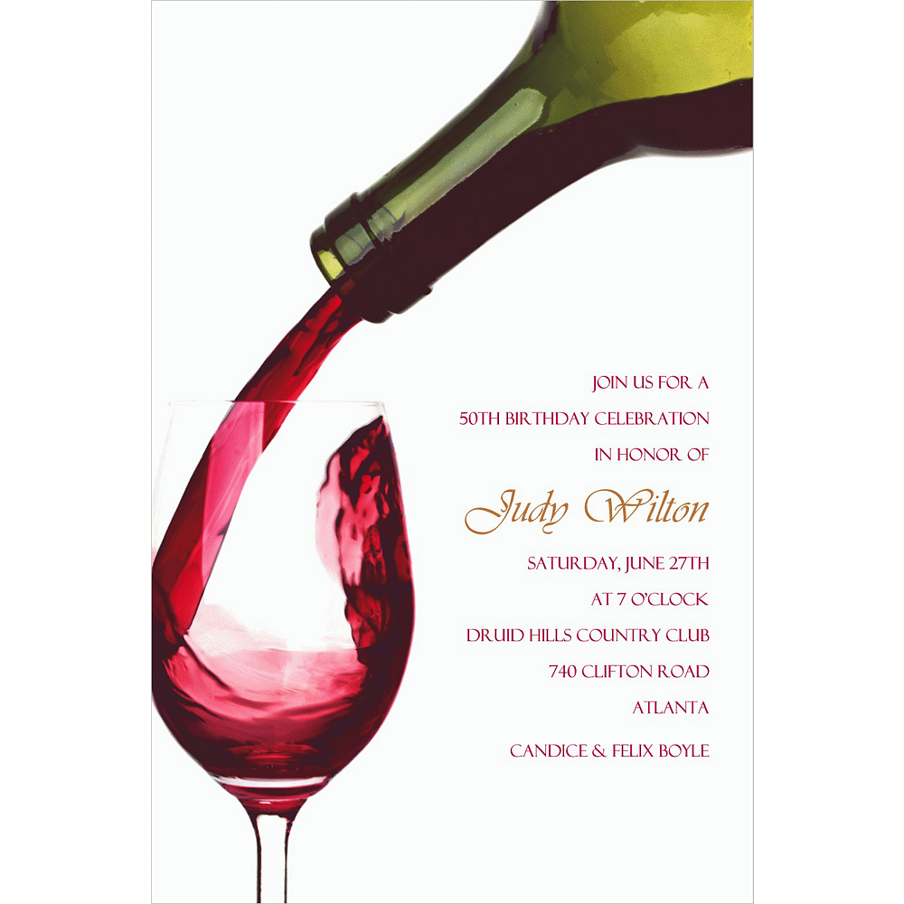 Custom Pour Me a Glass Invitations Image #1