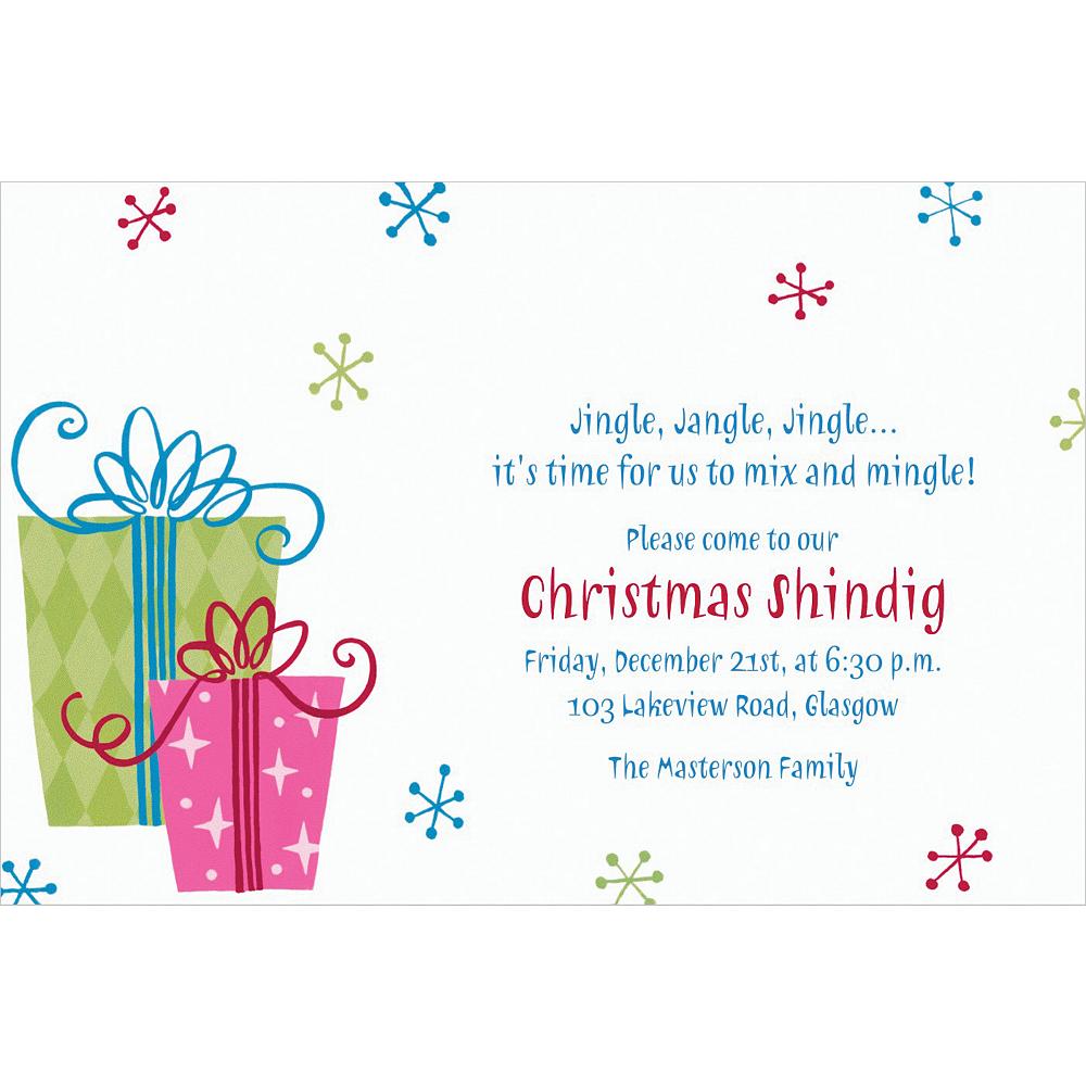 Custom Fancy Christmas Gifts Invitations Image #1