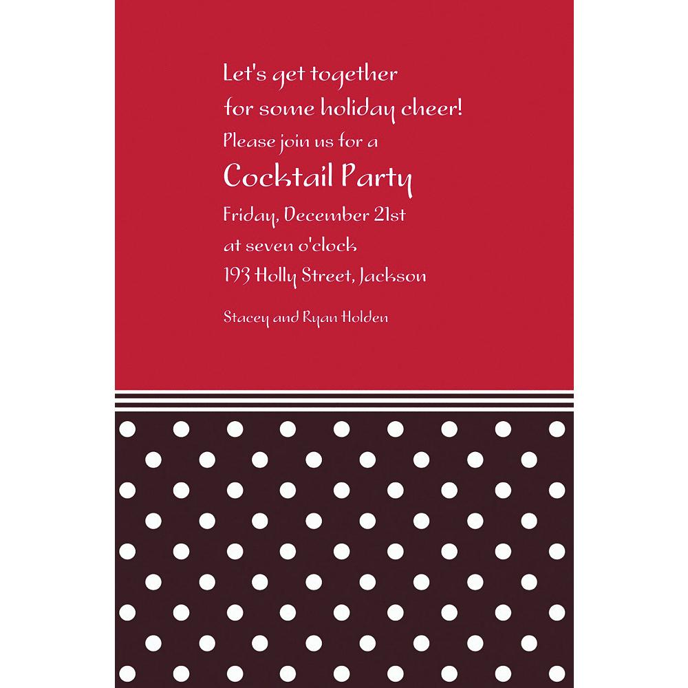 Custom Polkadot Red Christmas Invitations | Party City