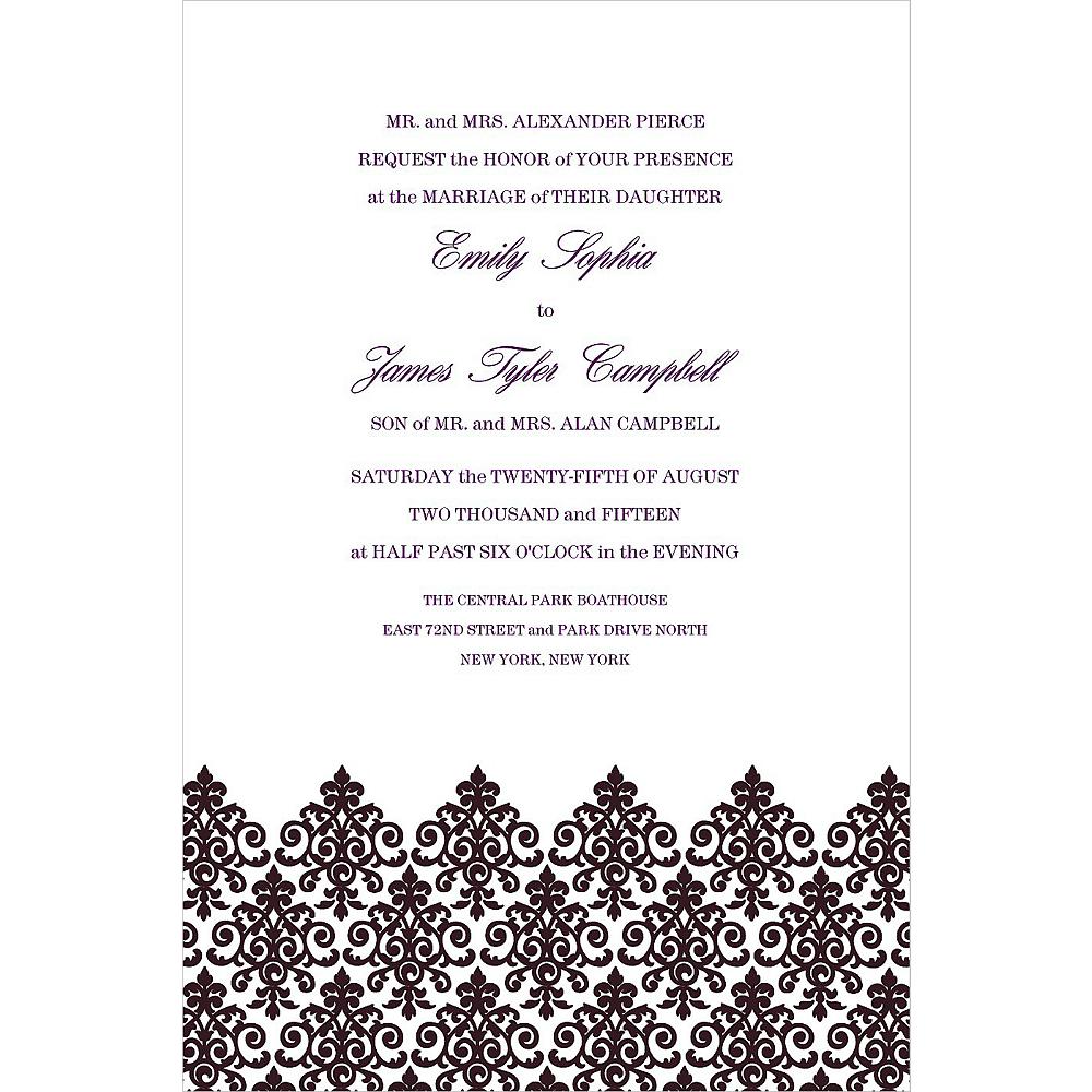 Custom Unbridled Filigree Black Invitations Image #1