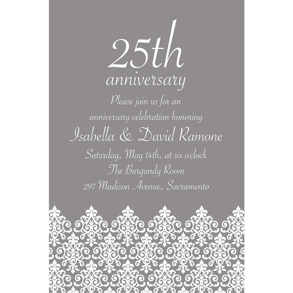 Custom Unbridled Filigree Gray Invitations Image #1