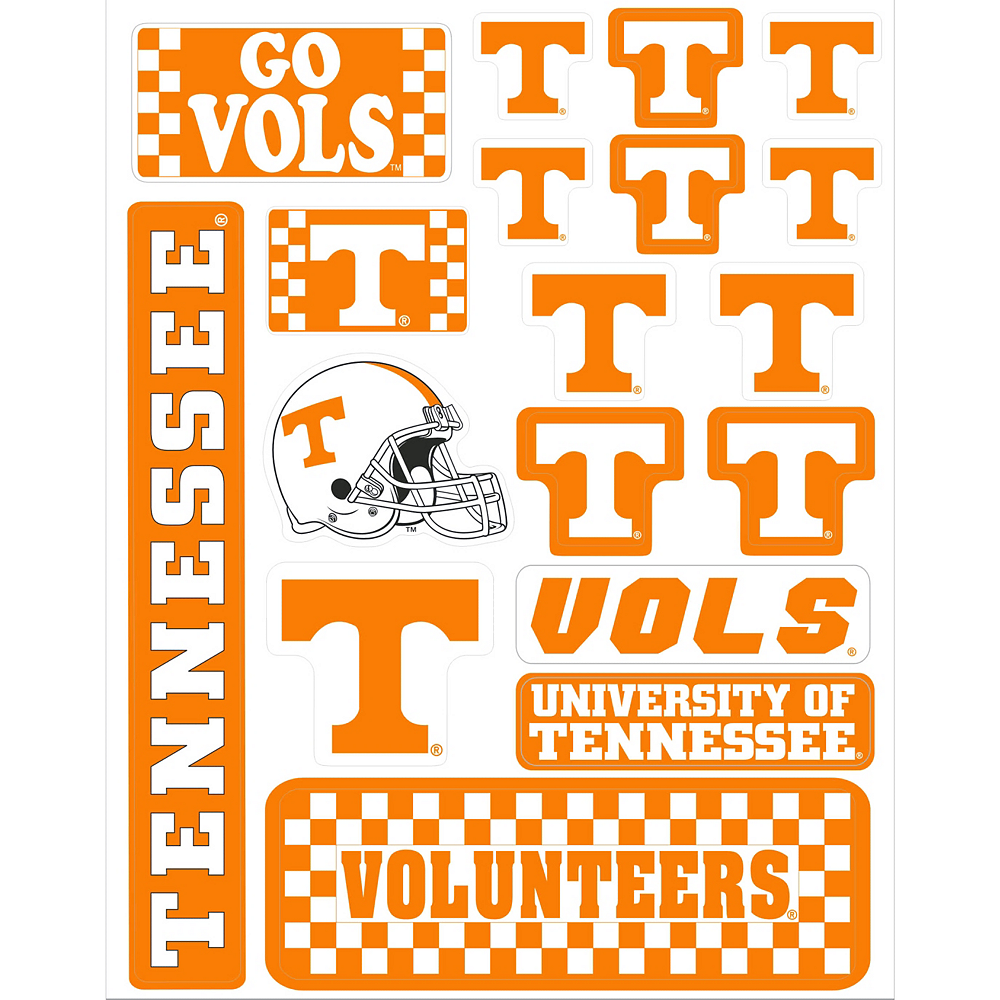 Tennessee Volunteers Decals 18ct Image #1