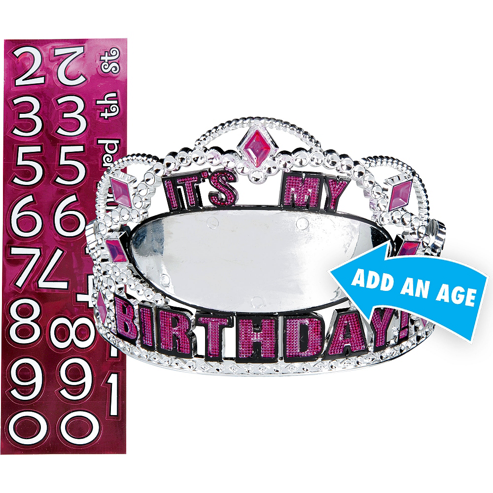 Personalized Pink Birthday Tiara Kit Image #1