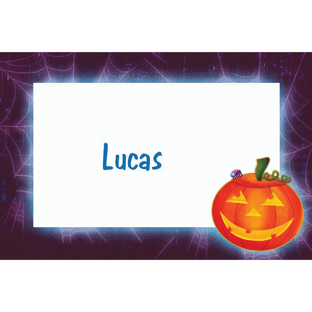 Custom Playful Pumpkin Halloween Thank You Notes Image #1