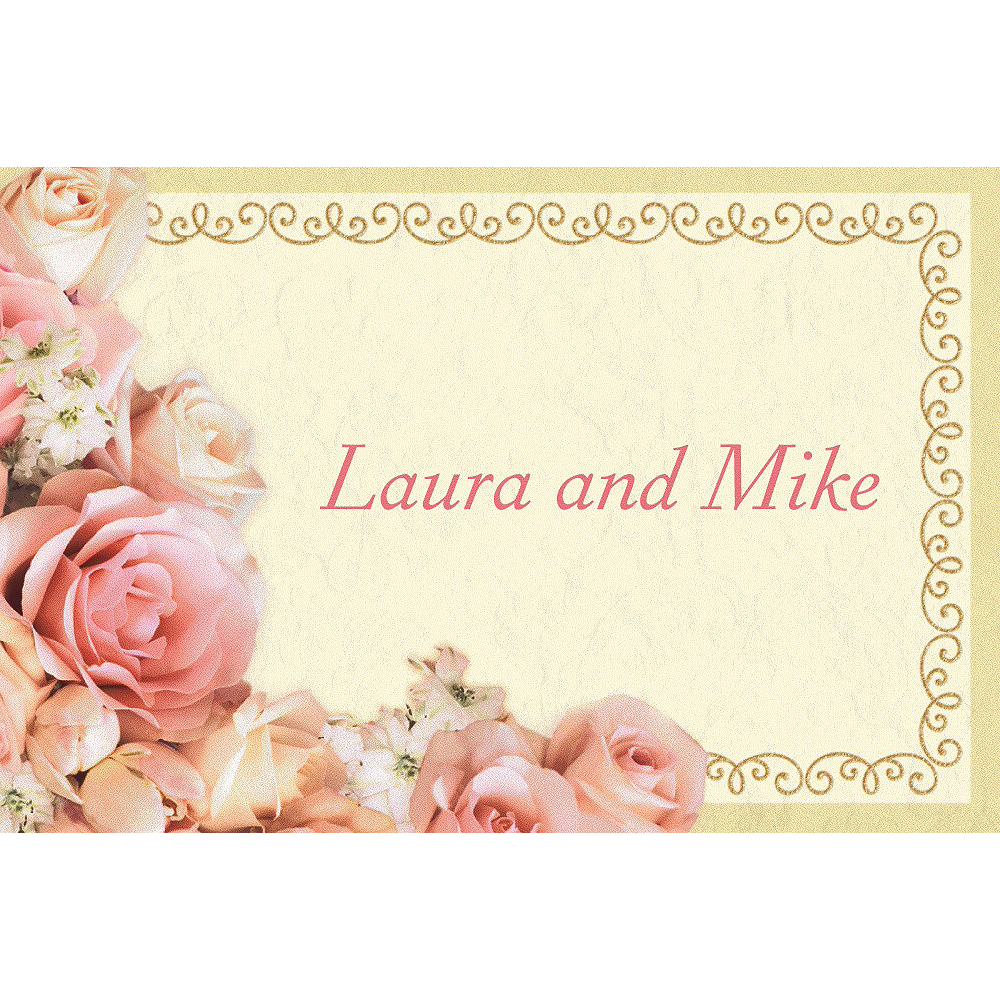 Custom Dazzling Bouquet Bridal Shower Thank You Notes  Image #1