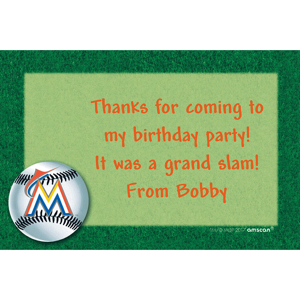 Custom Miami Marlins Thank You Notes  Image #1
