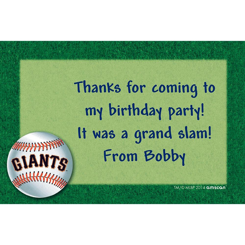 Custom San Francisco Giants Thank You Notes Image #1