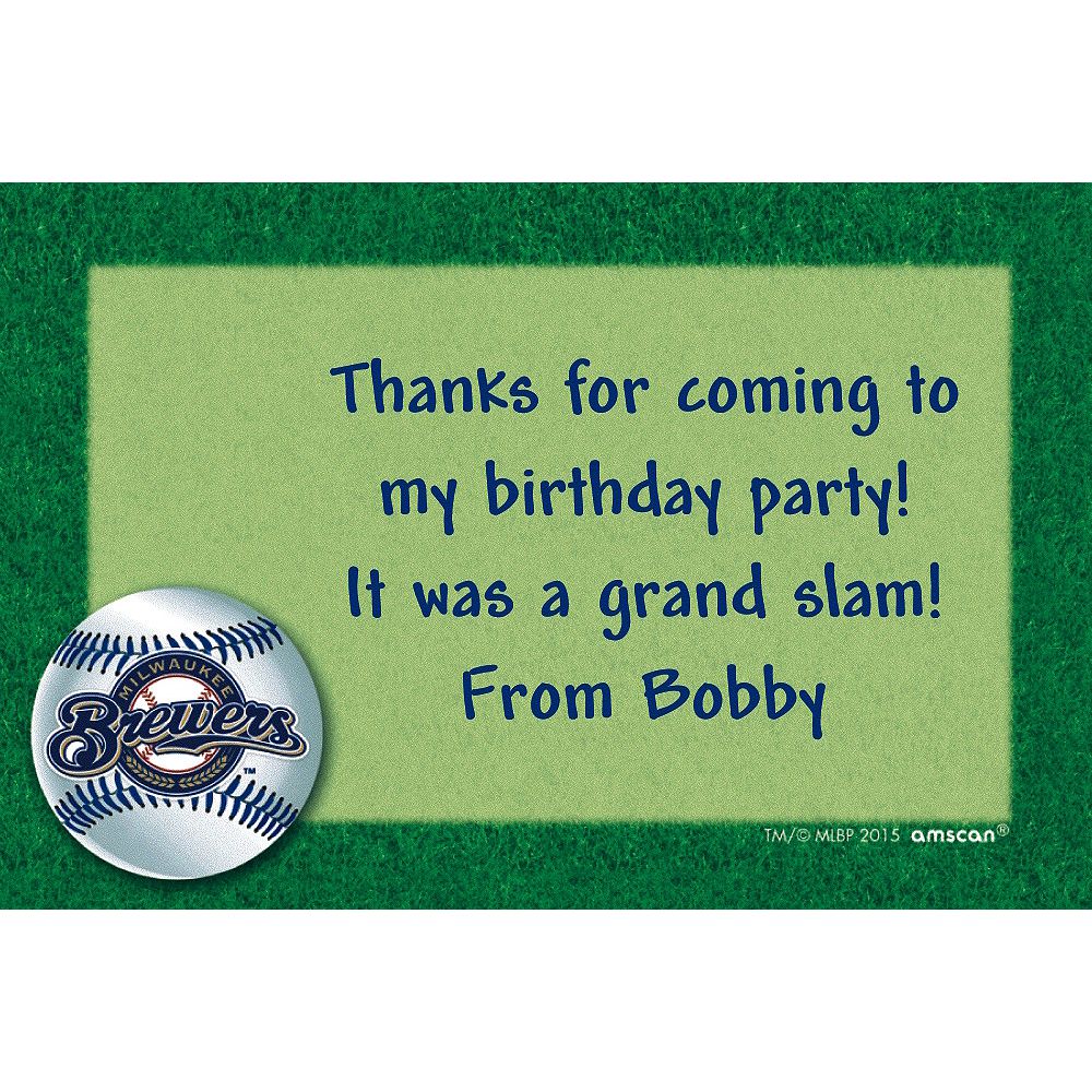 Custom Milwaukee Brewers Thank You Notes Image #1