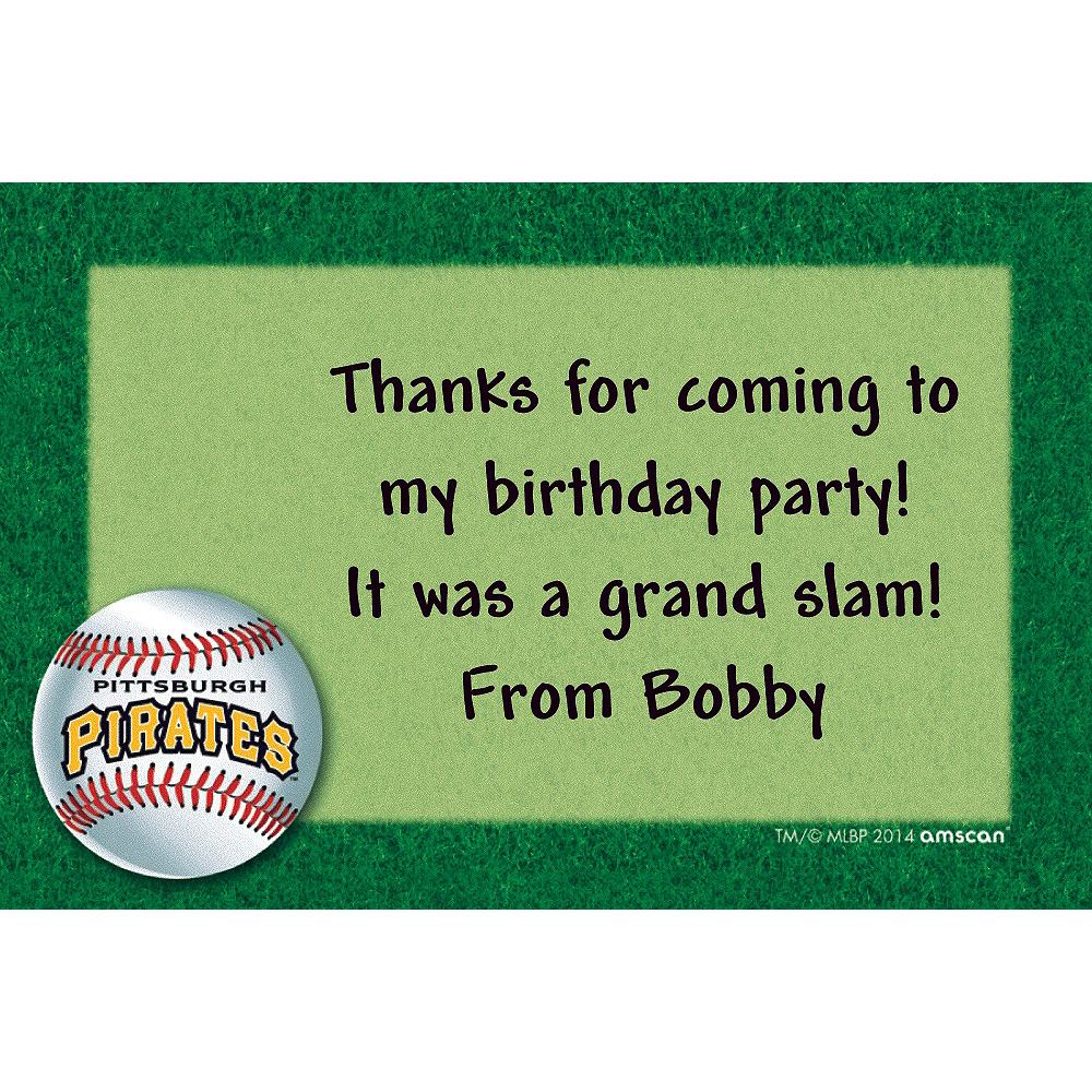 Custom Pittsburgh Pirates Thank You Notes Image #1