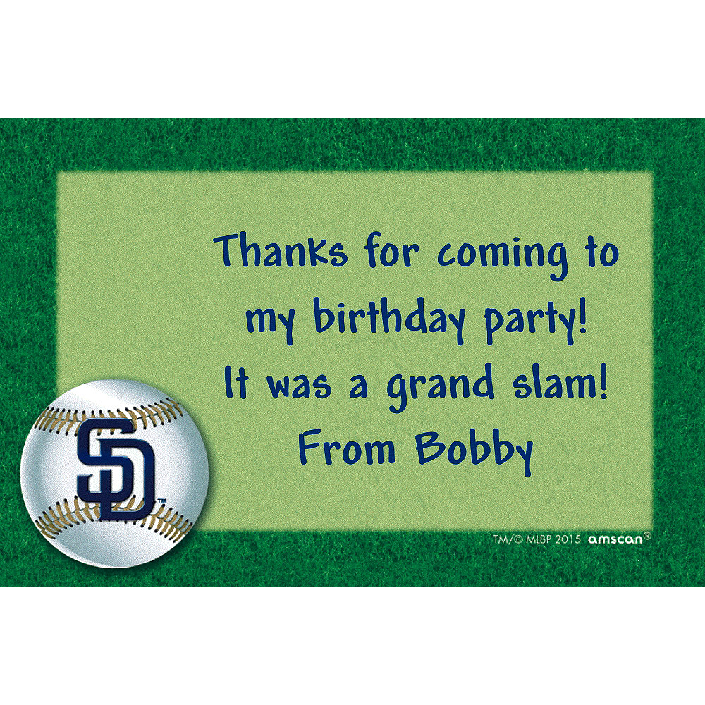 Custom San Diego Padres Thank You Notes Image #1