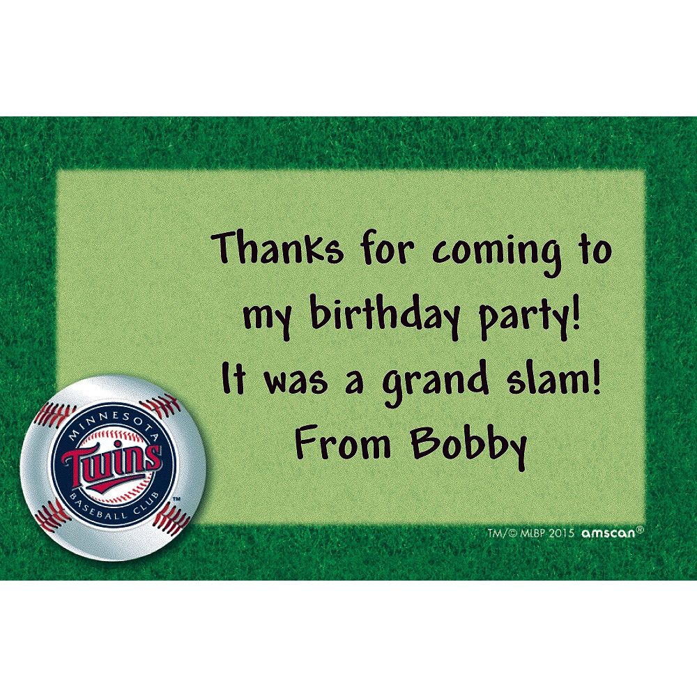 Nav Item for Custom Minnesota Twins Thank You Notes Image #1