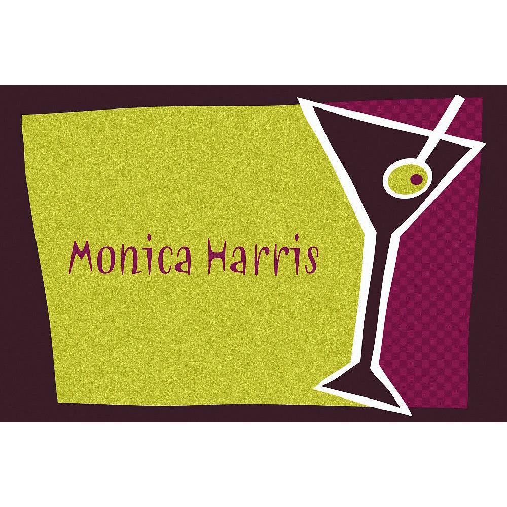 Custom Shaken Martini Thank You Notes Image #1